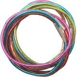 Резинки для волос DEWAL, цветные, блестящие, midi 10 шт/уп