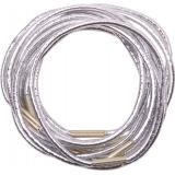 Резинки для волос с серебр.нитью, черные, midi (10 шт.)