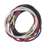 Резинки для волос DEWAL, с серебристой нитью, цветные, midi 10 шт/уп