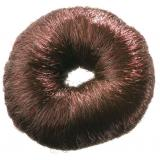 Валик для причесок искусственный волос коричневый, 8см DEWAL