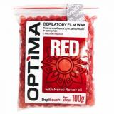 Пленочный воск для депиляции в гранулах OPTIMA «RED», 100гр